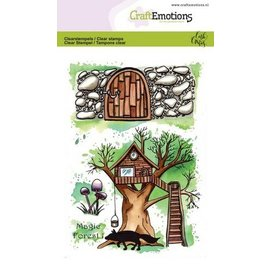 Craftemotions Motiefstempel, A6, transparant, Magic Forest