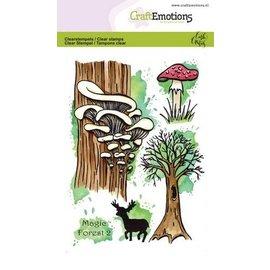 Craftemotions Timbro con motivi, A6, trasparente, Magic Forest