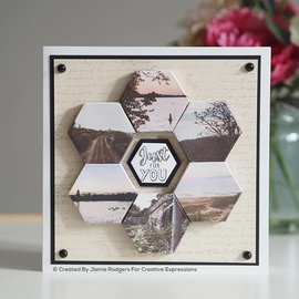 CREATIVE EXPRESSIONS und COUTURE CREATIONS BRANDNEU! Stanzschablonen SET, Canvas collection Dreieck!
