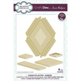 CREATIVE EXPRESSIONS und COUTURE CREATIONS BRAND NEW! Punching stencils SET, Canvas collection Diamant!
