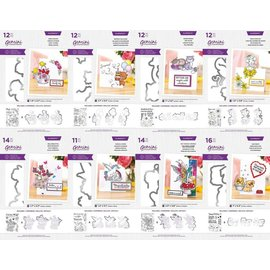 Gemini NEW! Motif stamp + punching template SET! Various sets to choose from!