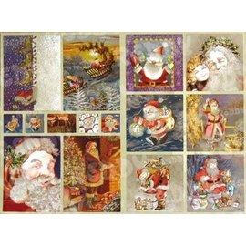 Dufex , Metallgravur Stickerbogen, 15 Motive: Weihnachtsmänner