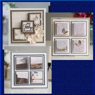CREATIVE EXPRESSIONS und COUTURE CREATIONS Ponsen sjabloon set, Canvas collectie rechthoek, CEDJR001