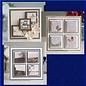 CREATIVE EXPRESSIONS und COUTURE CREATIONS Stanzschablone Set, Canvas collection Viereck, CEDJR001