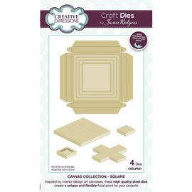 CREATIVE EXPRESSIONS und COUTURE CREATIONS Stamping template set, Canvas collection Rectangle, CEDJR001