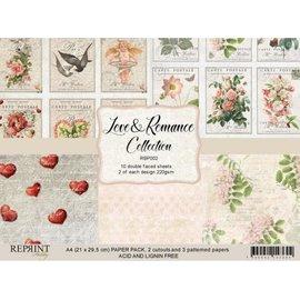 Karten und Scrapbooking Papier, Papier blöcke NOUVEAU! Ensemble de papier A4 Love & Romance