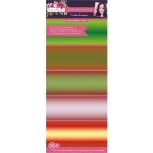 Karten und Scrapbooking Papier, Papier blöcke Paper set with 30 sheets of breathtaking matte paper in five beautiful colors