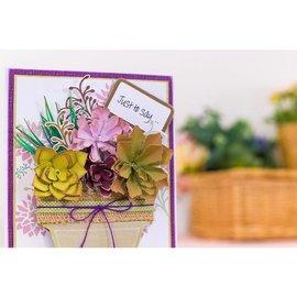 Karten und Scrapbooking Papier, Papier blöcke Papirsæt med 30 ark betagende matpapir i fem smukke farver