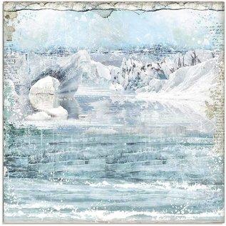 Stamperia Designblok, Stamperia Antarctic, 30,5 x 30,5 cm