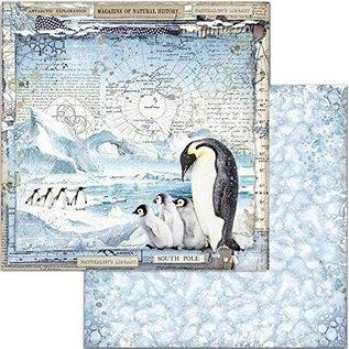 Stamperia Designer pad, Stamperia Antarctic, 30.5 x 30.5 cm