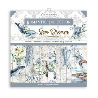 Designer block, Stamperia, Sea Dream, 30.5 x 30.5 cm