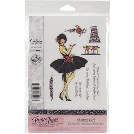 Crafters compagnion Stamp unmounted, girl, format A6