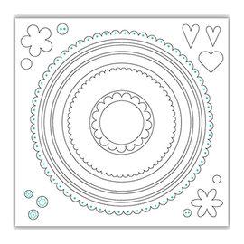 Julie Hickey Stansemaler SET, 21 sirkler, største format 148mm x 148mm