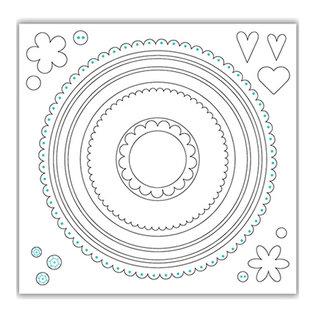 Julie Hickey Snijsjablonen SET, 21 cirkels, grootste formaat 148 mm x 148 mm