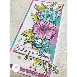 Julie Hickey Stempel gjennomsiktig, Floral Happiness, A6 102 x 146mm
