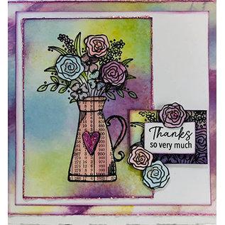 Julie Hickey Stempelmotief, transparant, bloemen, A7, 74 x 105mm, Julie Hickey