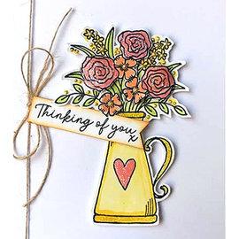 Julie Hickey Stamp motif, transparent, flowers, A7, 74 x 105mm, Julie Hickey