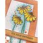 Julie Hickey Stempelmotief, transparant, bloemen, A6, 102 x 146 mm, Julie Hickey