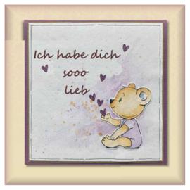 Stamp motif, transparent, cute, size 58 x 60 mm