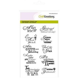 Craftemotions Stamp set, German texts, A6 format