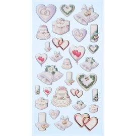 Joy!Crafts / Jeanine´s Art, Hobby Solutions Dies /  Softysticker, 30 disegni di nozze, adesivi