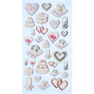 Joy!Crafts / Jeanine´s Art, Hobby Solutions Dies /  Softysticker, 30 trouwontwerpen, stickers