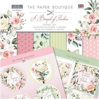CREATIVE EXPRESSIONS und COUTURE CREATIONS Paper Boutique, PapierSET, A Bouquet of Sunshine, 20,3 x 20,3 cm, 36 vellen, 32 toppers, 160 en 300 gsm