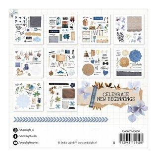 """Studio Light 300 papieren elementen, uitgestanst, uit """"Vier nieuwe beginners"""""""