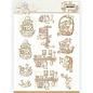 Die cut sheet, A4, Yvonne Creations - Newborn - Baby Basket