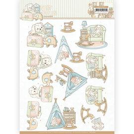 Die cut sheet, A4, Yvonne Creations - Newborn - Baby Rocking