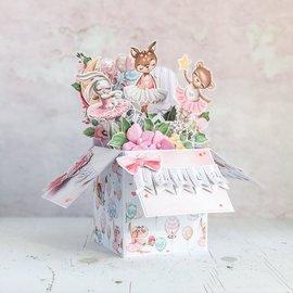 HCP Sweety Collection, 4 utklippsbok og kortpapir, 30,5 x 30,5 cm, 4 ark!