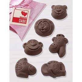 GIESSFORM / MOLDS ACCESOIRES Schokoladengießform, Safari,4,5 x 5,5 cm, 6 Formen