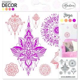 ALADINE Aladine Dekor-Schaumstoff-Stempel, Yogadesign