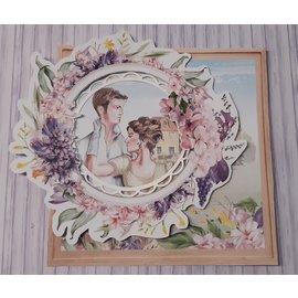 Karten und Scrapbooking Papier, Papier blöcke Designer paper, collection, LOve Garden, 3 sheets 30.5 x 30.5 cm