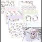 Bel ensemble de papiers, 20,3 x 20,3 cm, 12 imprimés recto-verso, 190 g/m²