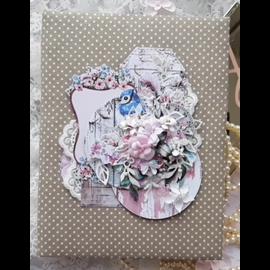 HCP Set de papier, 20,3 x 20,3 cm, Dreamgarden, 24 feuilles ! imprimé recto-verso, 190 g/m²