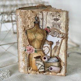 Papirblokk, Sewing Love, 15,2 x 15,2 cm, 24 trykt på begge sider, 190 g / m2