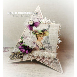 Stamperia und Florella Designerpapir, kort og utklippsbokpapir, 30,5 x 30,5 cm, Lilac Paris Collection.