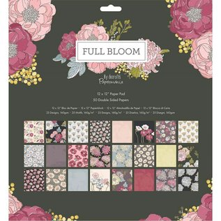 Docrafts / Papermania / Urban Designerblok, volle bloei, 50 dubbelzijdig bedrukt, 30,5 x 30,5 cm, 160 g/m²