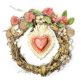 Prima Marketing und Petaloo Prima Flowers, Millicent Doodle Deux, handgemaakte bloemen 21 x 5 cm