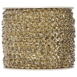DEKOBAND / RIBBONS / RUBANS ... Star cord, in gold, 5mm width, yard goods