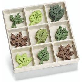 Embellishments / Verzierungen Felt ornament box, motif: leaves