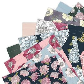 Docrafts / Papermania / Urban Designerblock, Full Bloom, 50 doppelseitig bedruckt, 30,5 x 30,5cm, 160 gsm