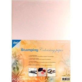 Joy!Crafts / Jeanine´s Art, Hobby Solutions Dies /  papier spécial tampon, blanc, A4, 10 feuilles, adapté pour tamponner et colorier avec des marqueurs pinceau,