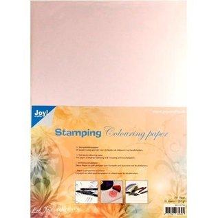 Joy!Crafts / Jeanine´s Art, Hobby Solutions Dies /  speciaal stempelpapier, wit, A4, 10 vellen, geschikt om te stempelen en in te kleuren met brushmarkers,