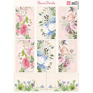 Marianne Design Fotovellen, A4, bloempanelen, 8 motieven