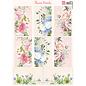 Marianne Design Bilderbogen , A4, Flower Panels, 8 Motive