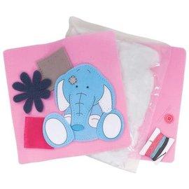 Kinder Bastelsets / Kids Craft Kits Tatty Teddy, knutselset, vilten kussen, 25 x 25 cm, Me to You,