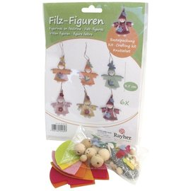 BASTELSETS / CRAFT KITS Handicraft package felt figures, 6 pieces, 8.5cm