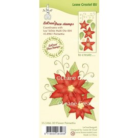 Leane Creatief - Lea'bilities und By Lene 3D Christmas rose, stamp motif, matching the punch (Art. Kh4458961)